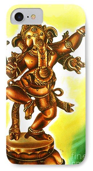 IPhone Case featuring the painting Dancing Vinayaga by Ragunath Venkatraman