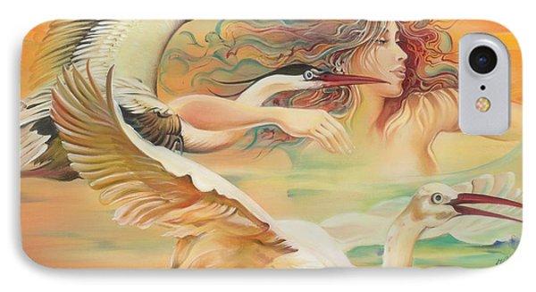 Dancing With Birds IPhone Case by Anna Ewa Miarczynska