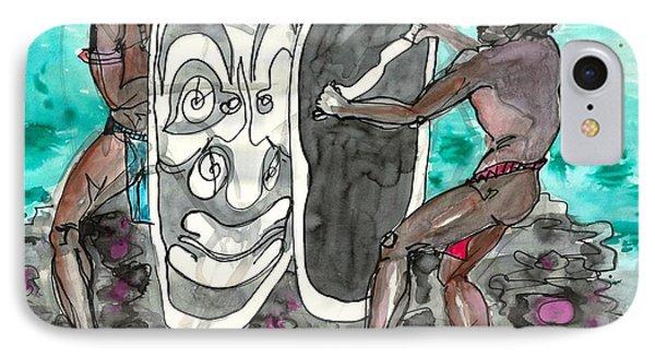 Dancing With Masks Phone Case by Judith Van Praag
