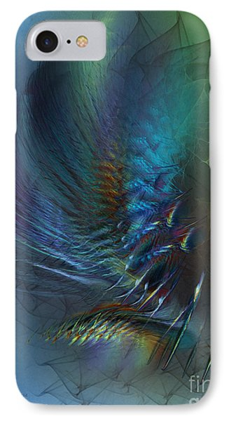 Dancing With The Wind-abstract Art IPhone Case by Karin Kuhlmann