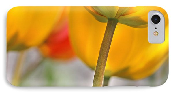 Dancing Yellow Tulip Flowers Phone Case by Jennie Marie Schell
