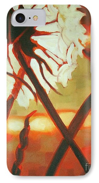 IPhone Case featuring the painting Dandelion At Last Light by Janet McDonald