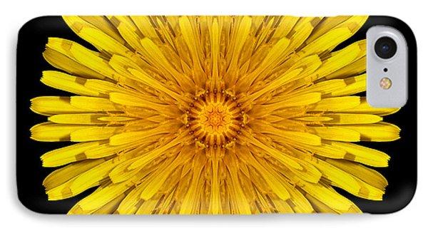 Dandelion Flower Mandala Phone Case by David J Bookbinder