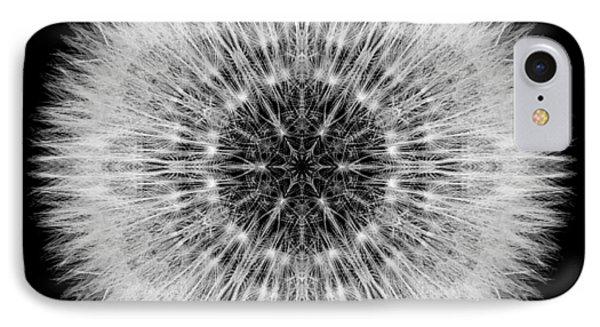 Dandelion Head Flower Mandala Phone Case by David J Bookbinder