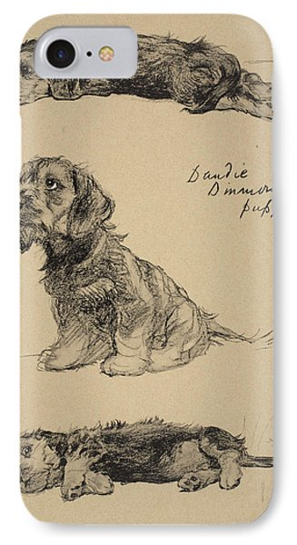 Dandie Dinmont Puppies, 1930 IPhone Case by Cecil Charles Windsor Aldin