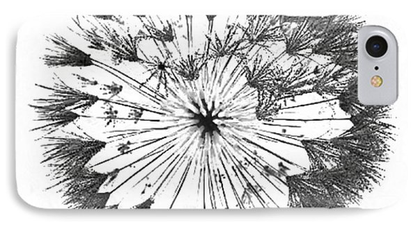 IPhone Case featuring the digital art Dandylion Black On White by Clayton Bruster