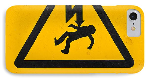 Danger Of Death - Electricity Phone Case by Shawn Hempel