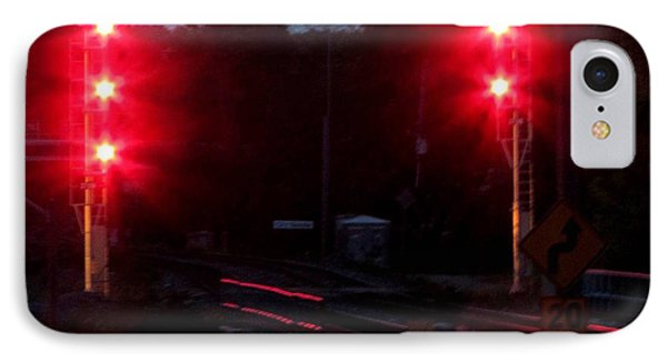 Danger Train Signals On Phone Case by Danielle  Parent