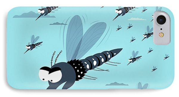 Dangerous Mosquitos IPhone Case by Mark Airs