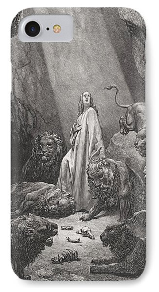 Daniel In The Den Of Lions Phone Case by Gustave Dore