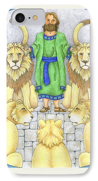 Daniel In The Lions' Den Phone Case by Alison Stein