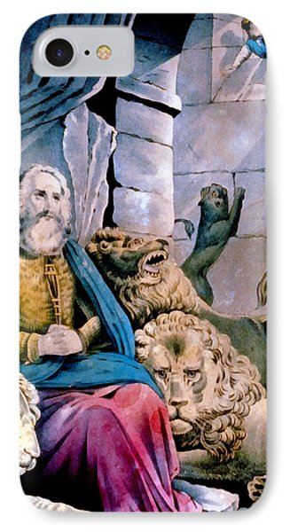 Daniel In The Lions Den Phone Case by Currier and Ives