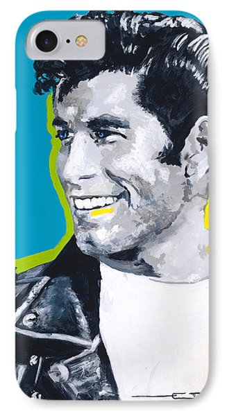 Danny Loves Sandy IPhone Case by Eric Dee
