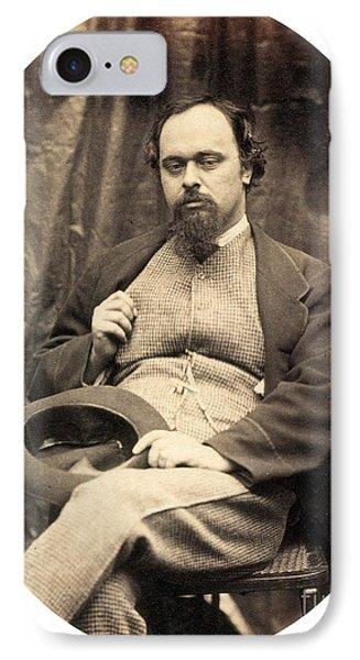 Dante Gabriel Rossetti English Poet Phone Case by Photo Researchers