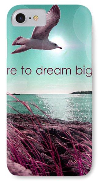 Dara To Dream Big  IPhone Case by Mark Ashkenazi