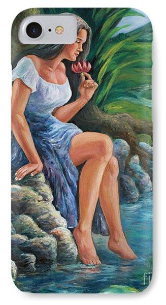 daragang magayon -beautiful lady in Mayon Phone Case by Manuel Cadag