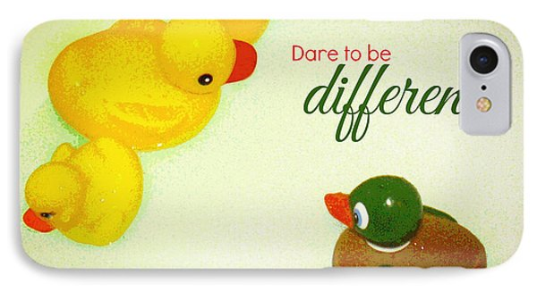 Dare To Be Different IPhone Case by Valerie Reeves