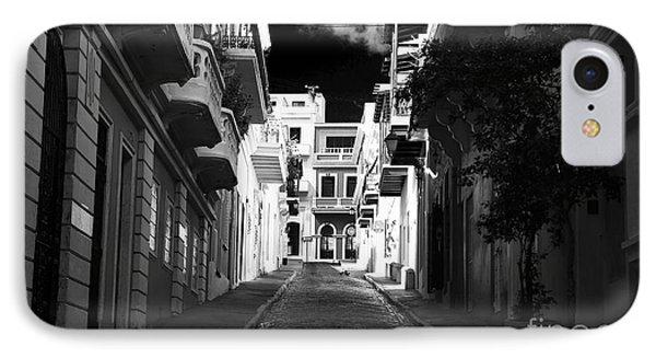 Dark Alley In San Juan Phone Case by John Rizzuto