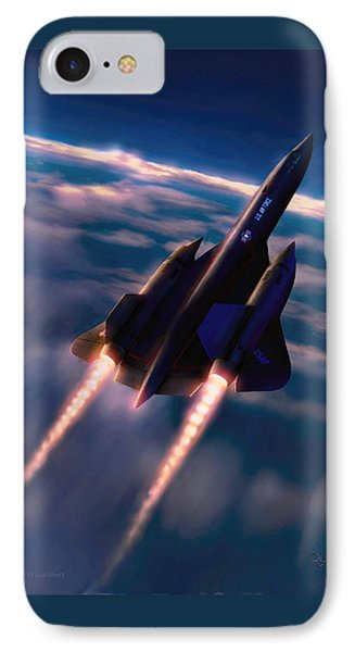 IPhone Case featuring the painting Dark Angel by Dave Luebbert