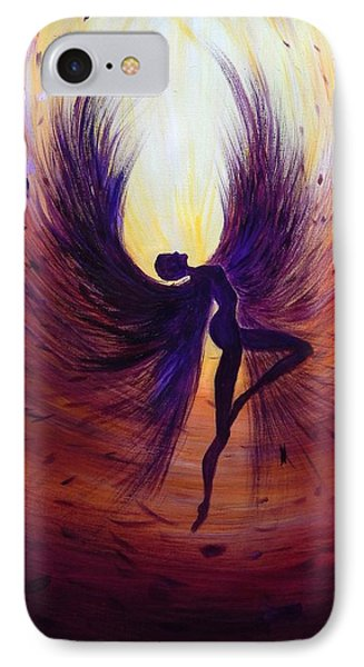 Dark Angel IPhone Case by Lilia D