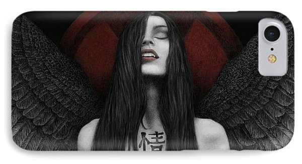 IPhone Case featuring the painting Dark Angel by Pat Erickson