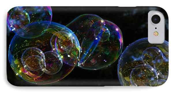 Dark Bubbles With Babies IPhone Case by Nareeta Martin