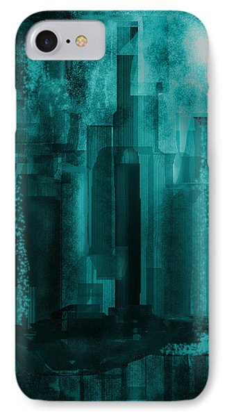 IPhone Case featuring the digital art Dark City by Martina  Rathgens
