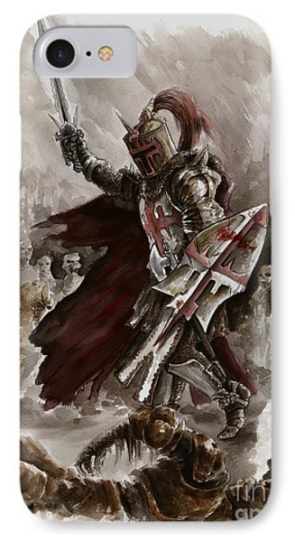 Dungeon iPhone 7 Case - Dark Crusader by Mariusz Szmerdt
