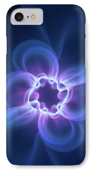 Dark Energy Illustration IPhone Case by David Parker
