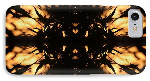 Dark Flame Of Nature IPhone Case by Deprise Brescia