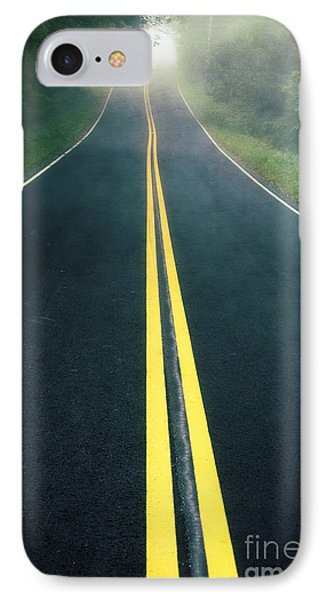 Dark Foggy Country Road IPhone Case by Edward Fielding