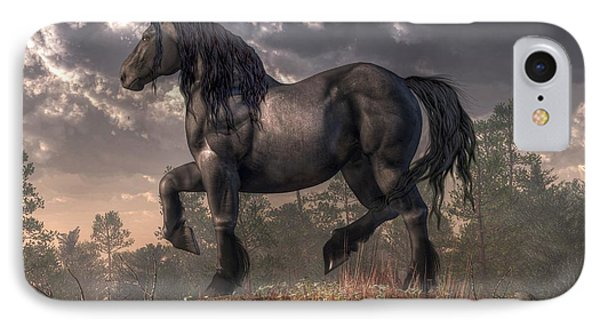 Dark Horse IPhone Case by Daniel Eskridge