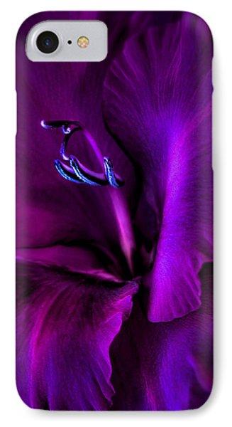 Dark Knight Purple Gladiola Flower IPhone Case