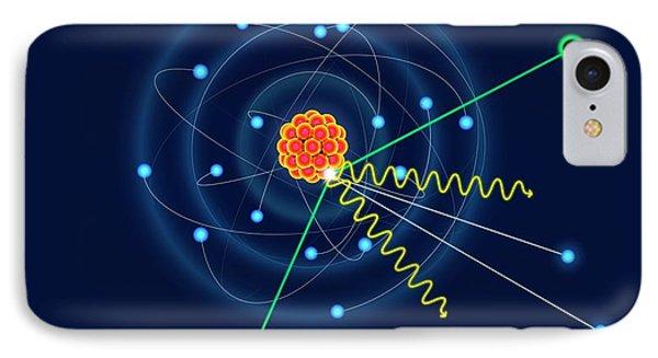 Dark Matter Colliding With An Argon Atom IPhone Case by David Parker