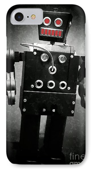 Dark Metal Robot Oil Phone Case by Edward Fielding