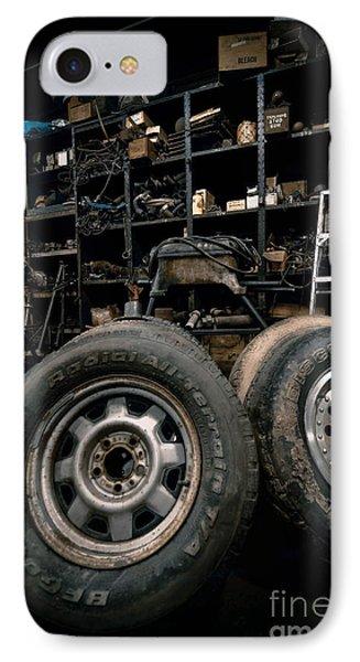 Dark Old Garage Phone Case by Amy Cicconi