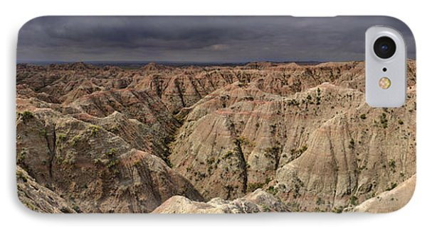IPhone Case featuring the photograph Dark Panorama Over The South Dakota Badlands by Sebastien Coursol