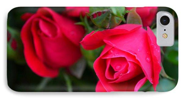 Dark Pink Roses #1 IPhone Case