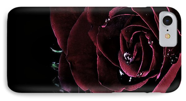 Dark Rose 2 Phone Case by Ann-Charlotte Fjaerevik