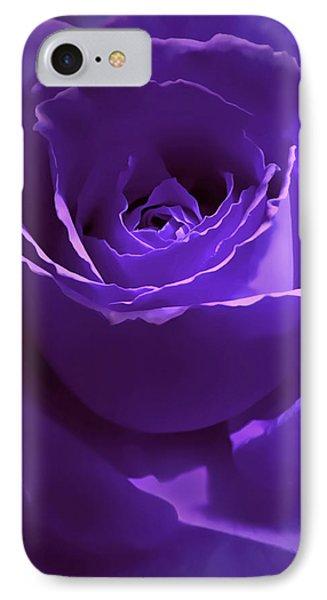 Dark Secrets Purple Rose IPhone Case by Jennie Marie Schell