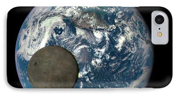 Dark Side Of The Moon IPhone Case by Nasa/ Dscovr Epic Team
