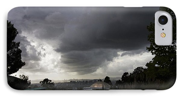 Dark Skies Gold Dome IPhone Case by Lennie Green