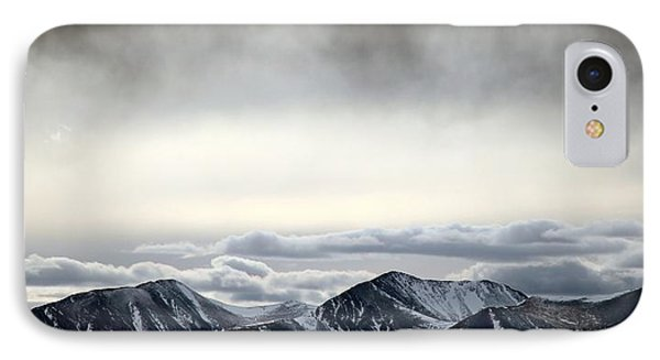IPhone Case featuring the photograph Dark Storm Cloud Mist  by Barbara Chichester
