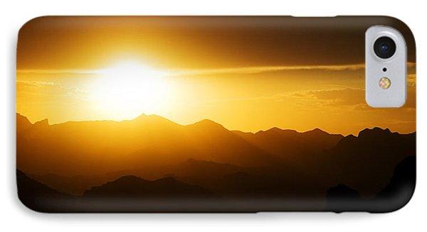 Dark Sunset Over The Matzatzals IPhone Case