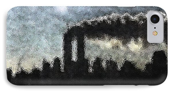Dark Surreal Silhouette  IPhone Case by James Kosior