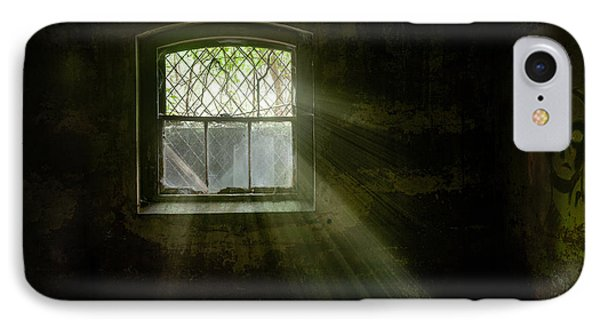 Darkness Revealed - Basement Room Of An Abandoned Asylum IPhone Case by Gary Heller
