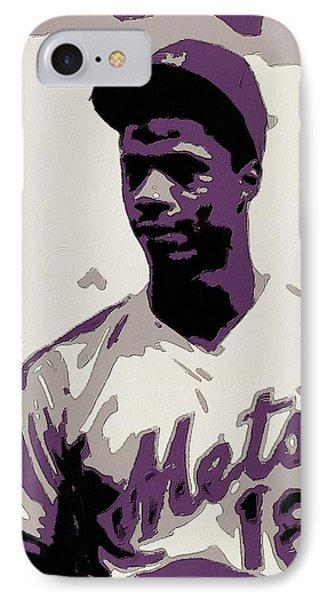 New York Mets iPhone 7 Case - Darryl Strawberry Poster Art by Florian Rodarte