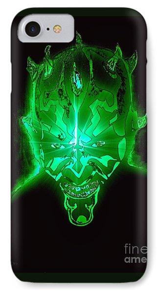 Darth Maul Green Glow IPhone Case by Saundra Myles
