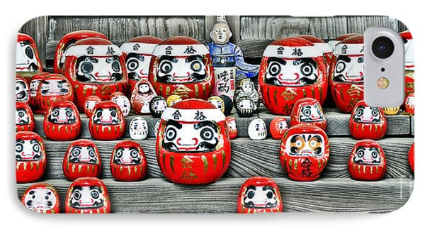 Daruma Dolls IPhone Case by Delphimages Photo Creations
