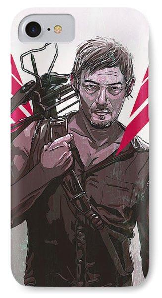 Daryl Dixon IPhone Case by Jeremy Scott